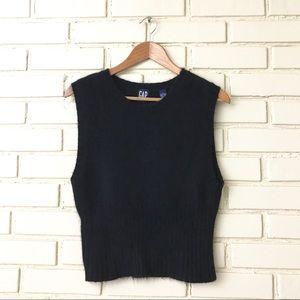 Vintage Gap - Black Angora Sweater Fuzzy Soft Tank